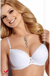 Reggiseno Push-Up con Coppe differenziate Alice bianco
